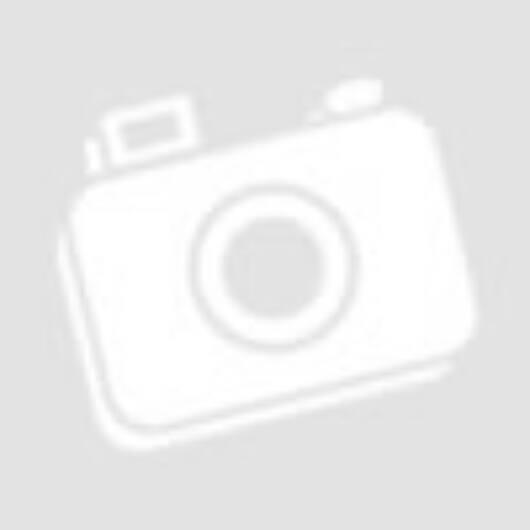 Gurulós szekrényes asztal, lehajtható lappal, barna